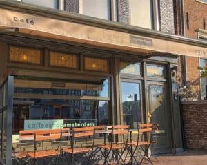 Exterior View of Coffeeshopamsterdam Café in Amsterdam at Singel 8